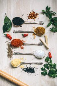 5 tipos de especias diferentes