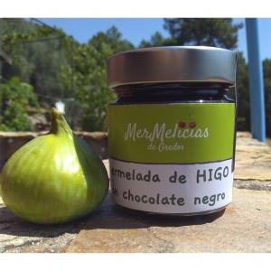 Mermelada de higos casera con chocolate negro