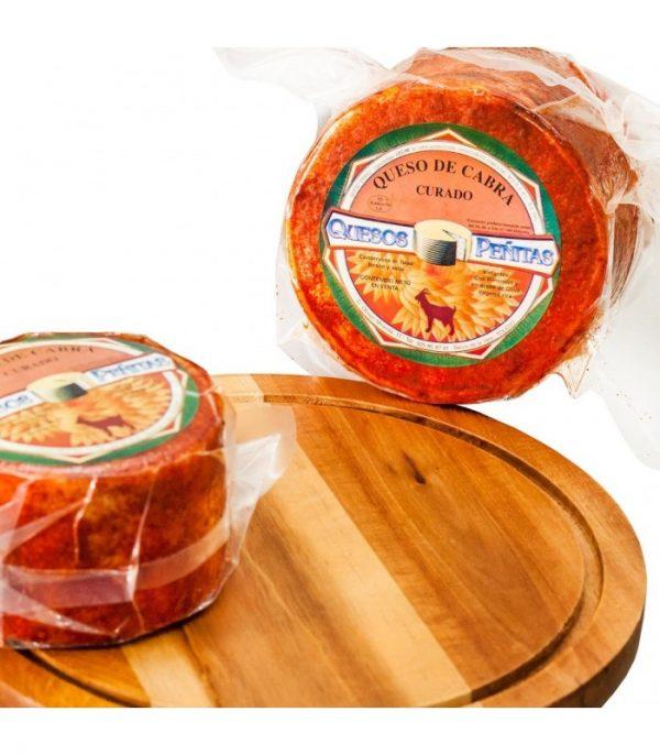 queso curado de cabra con imenton queseria peñitas